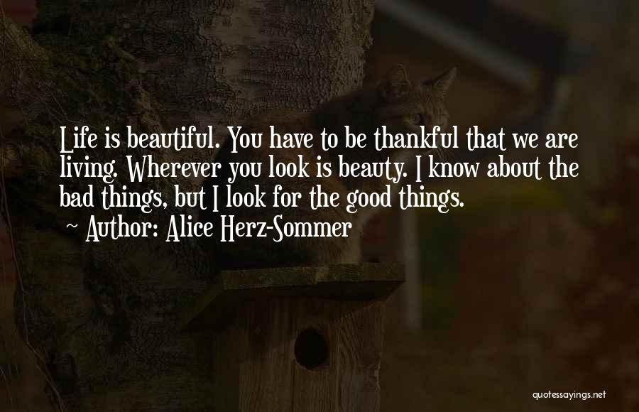 About Being Thankful Quotes By Alice Herz-Sommer