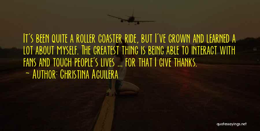 About Being Thankful Quotes By Christina Aguilera
