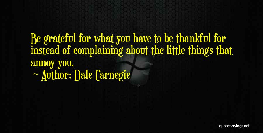 About Being Thankful Quotes By Dale Carnegie