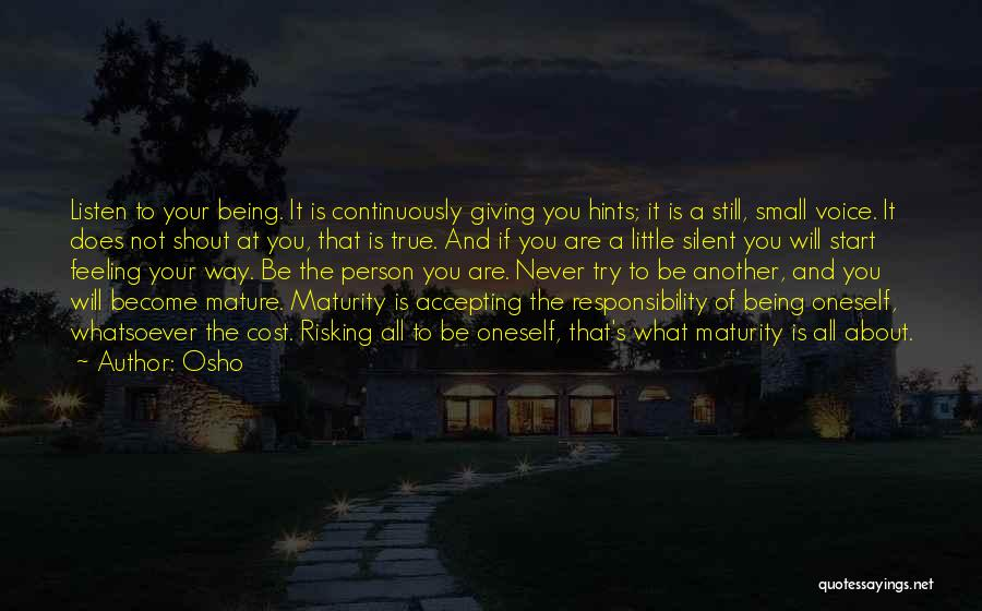 About Oneself Quotes By Osho