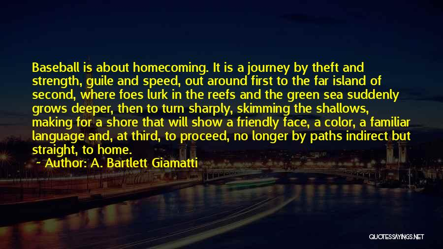 About The Sea Quotes By A. Bartlett Giamatti
