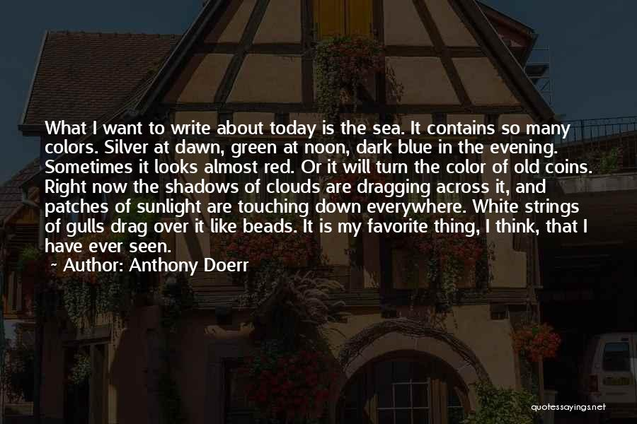About The Sea Quotes By Anthony Doerr