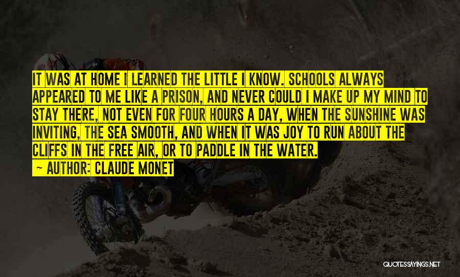 About The Sea Quotes By Claude Monet