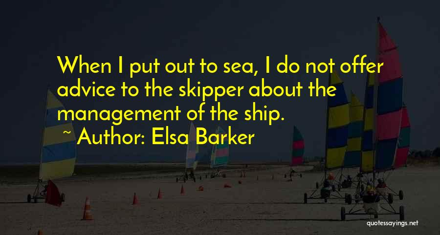 About The Sea Quotes By Elsa Barker