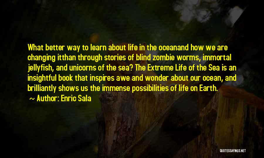 About The Sea Quotes By Enric Sala