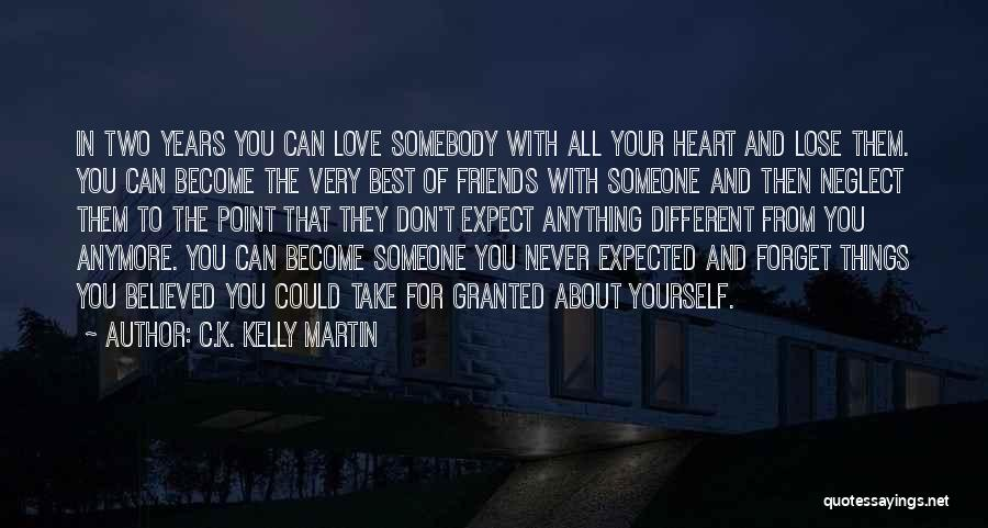 About To Lose Someone You Love Quotes By C.K. Kelly Martin