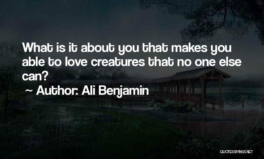 About You Love Quotes By Ali Benjamin