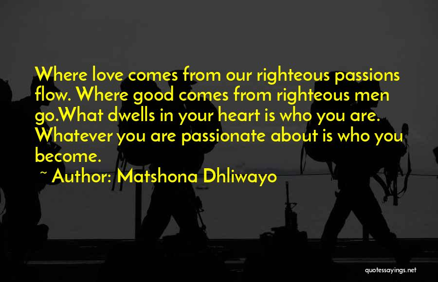About You Love Quotes By Matshona Dhliwayo