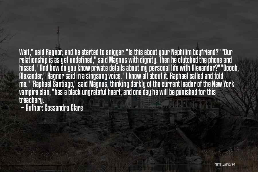 About Your Boyfriend Quotes By Cassandra Clare