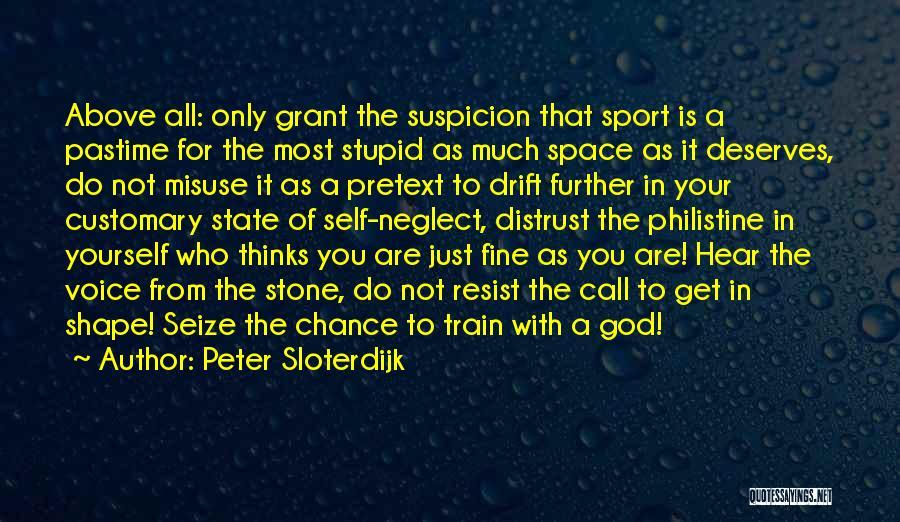 Above Suspicion Quotes By Peter Sloterdijk