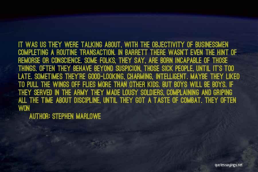 Above Suspicion Quotes By Stephen Marlowe
