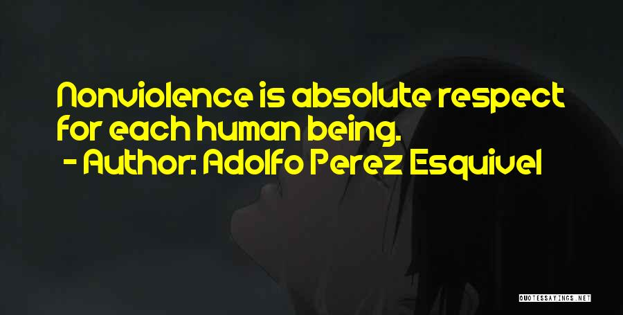 Absolute Peace Quotes By Adolfo Perez Esquivel