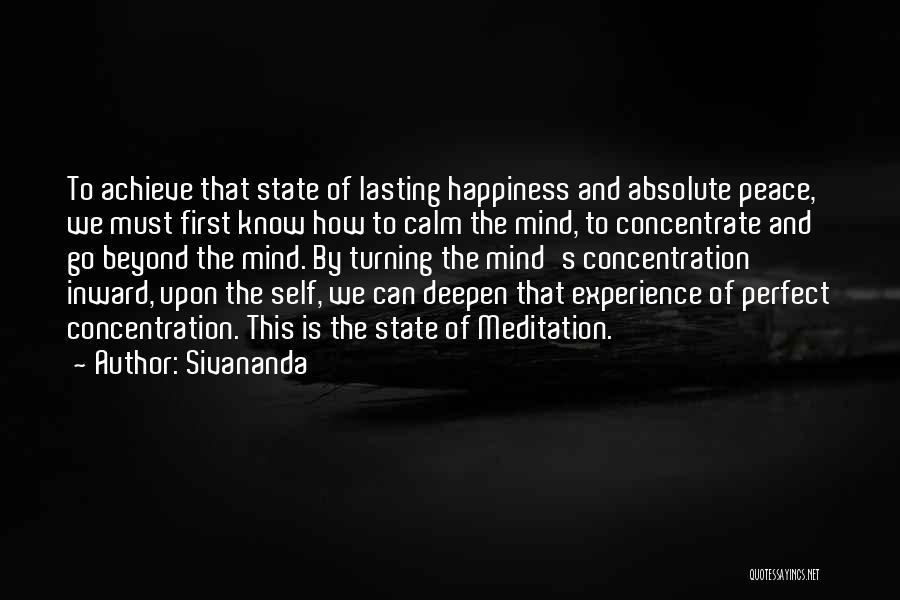 Absolute Peace Quotes By Sivananda