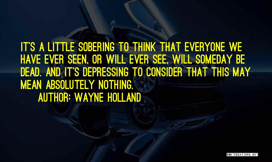 Absolutely Nothing Quotes By Wayne Holland