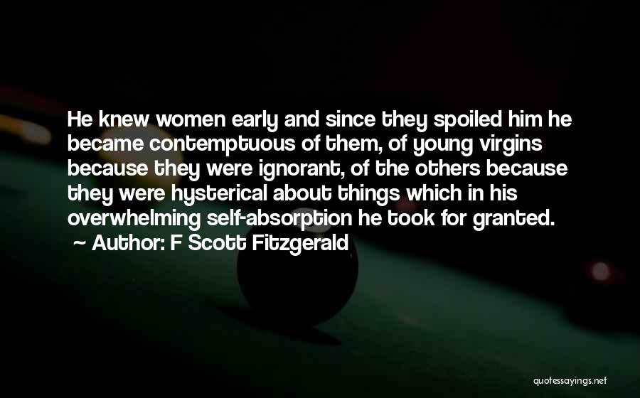 Absorption Quotes By F Scott Fitzgerald