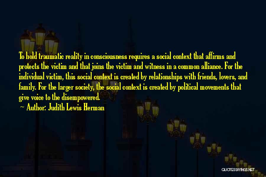 Abuse In Relationships Quotes By Judith Lewis Herman