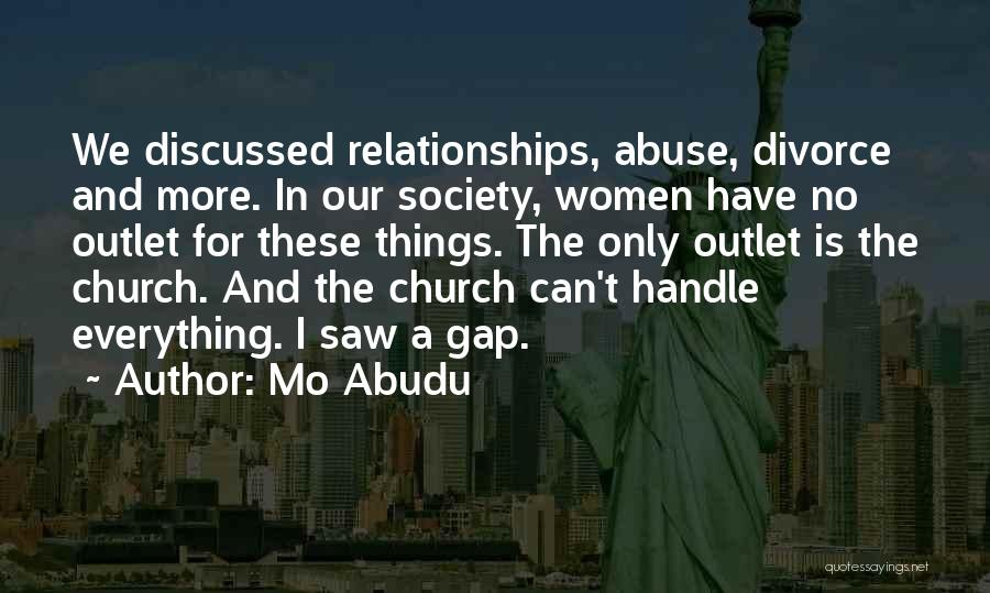 Abuse In Relationships Quotes By Mo Abudu