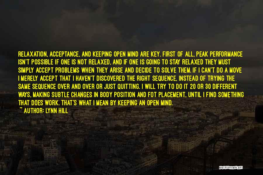 Accept Changes Quotes By Lynn Hill