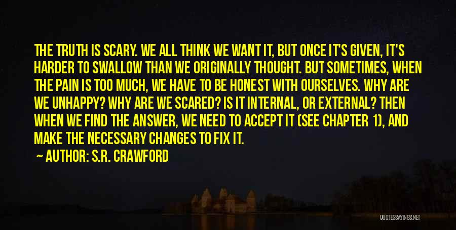 Accept Changes Quotes By S.R. Crawford