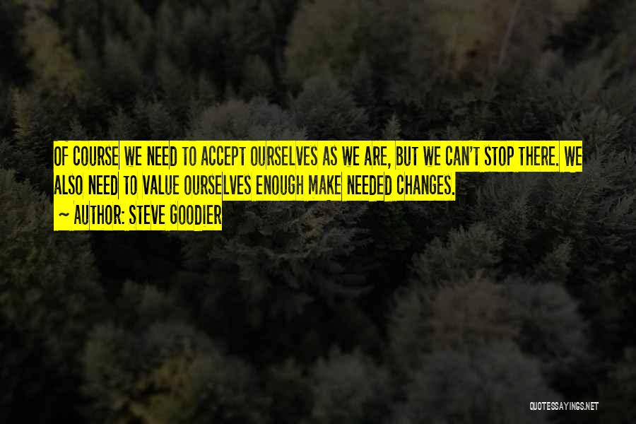 Accept Changes Quotes By Steve Goodier