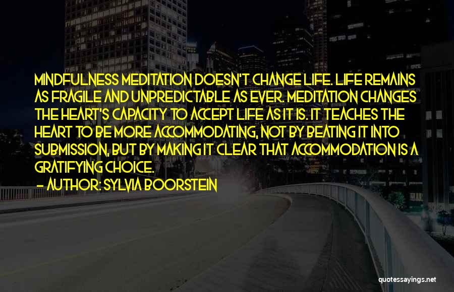 Accept Changes Quotes By Sylvia Boorstein
