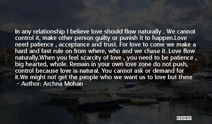 Acceptance In A Relationship Quotes By Archna Mohan