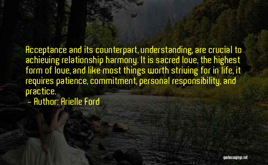 Acceptance In A Relationship Quotes By Arielle Ford