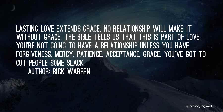 Acceptance In A Relationship Quotes By Rick Warren