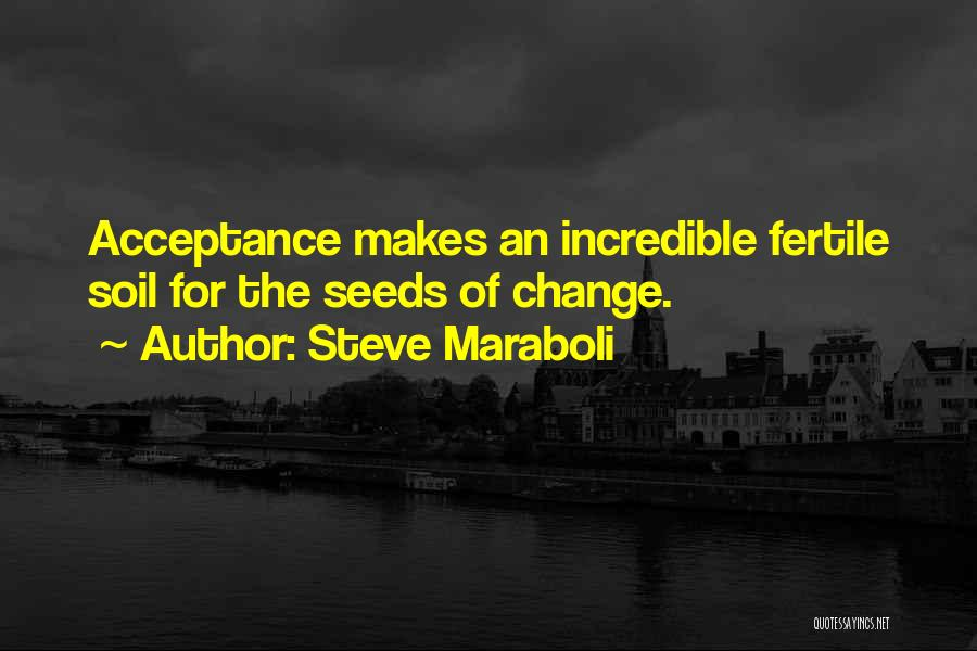 Acceptance Of Change Quotes By Steve Maraboli
