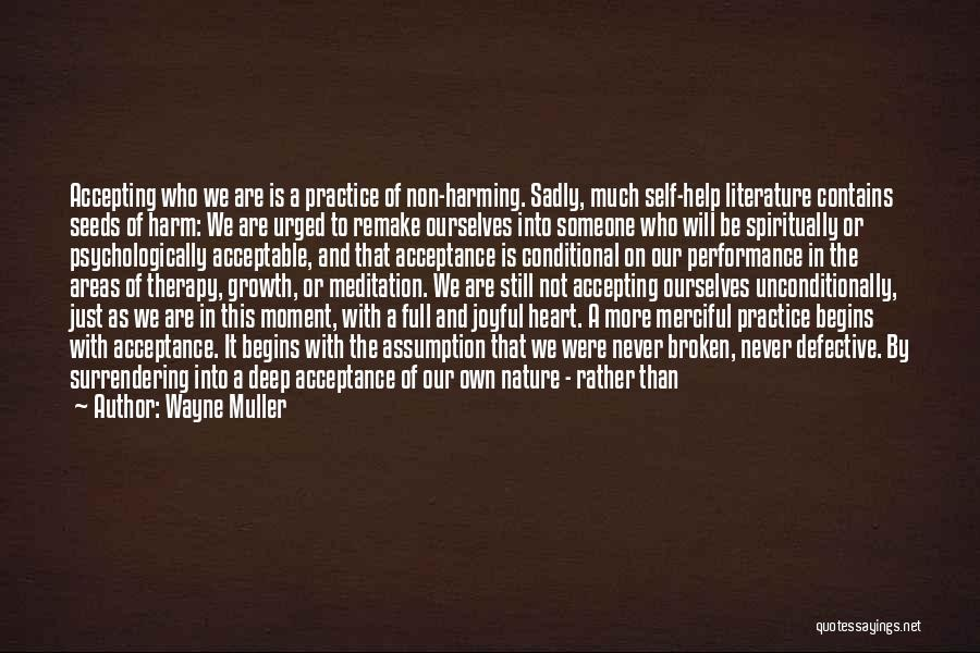 Acceptance Of Change Quotes By Wayne Muller
