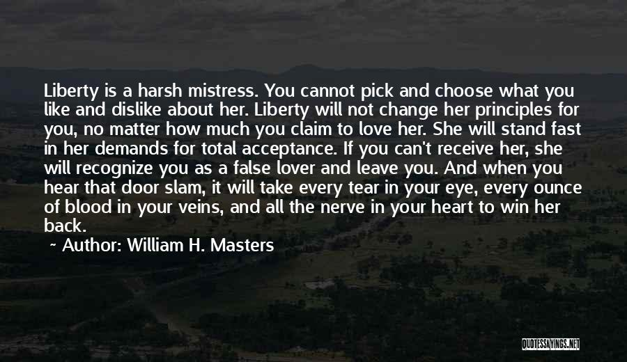 Acceptance Of Change Quotes By William H. Masters