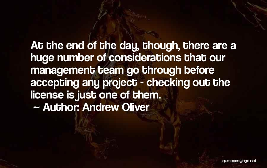 Accepting Its Over Quotes By Andrew Oliver