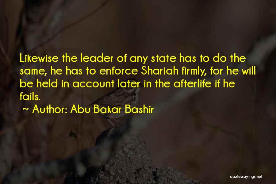 Account Quotes By Abu Bakar Bashir