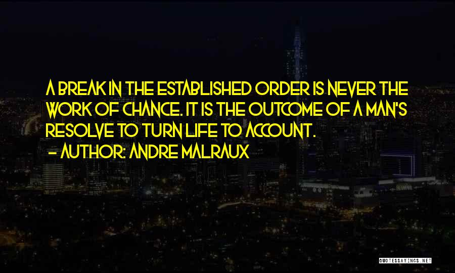 Account Quotes By Andre Malraux