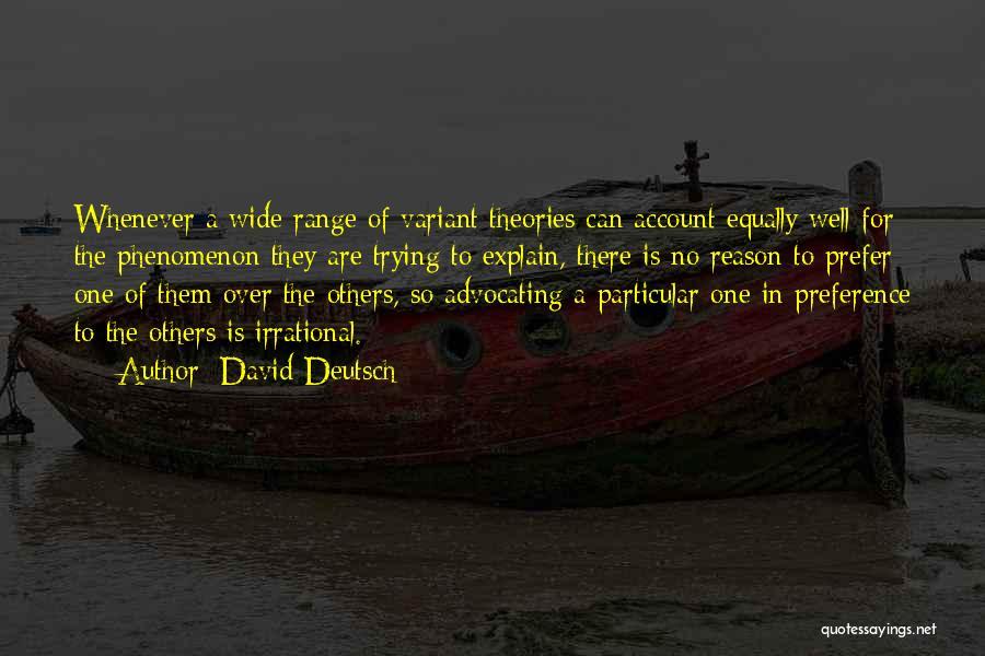 Account Quotes By David Deutsch