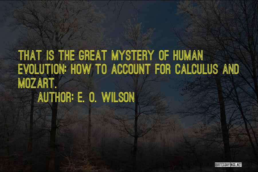 Account Quotes By E. O. Wilson