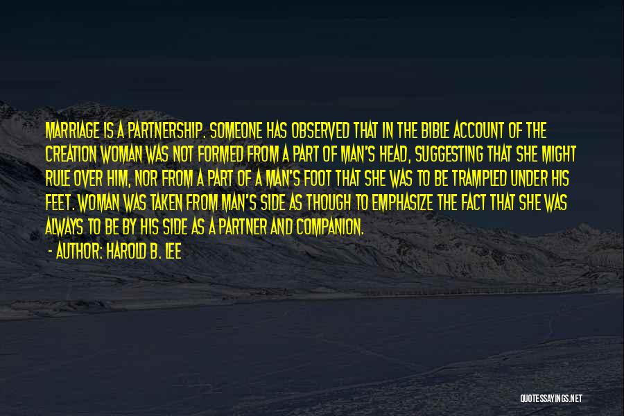 Account Quotes By Harold B. Lee