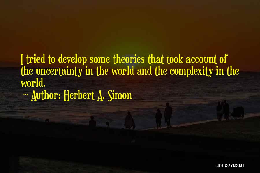 Account Quotes By Herbert A. Simon