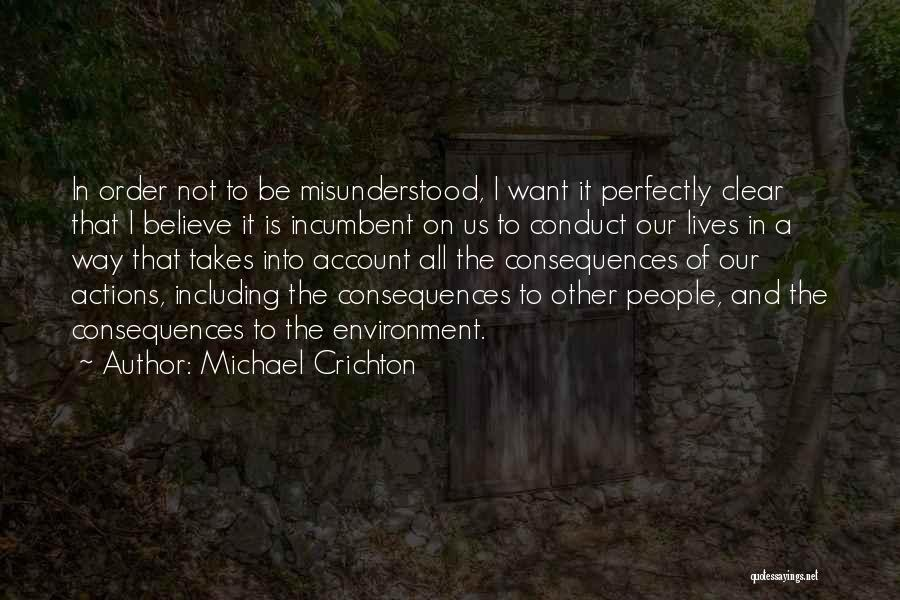 Account Quotes By Michael Crichton