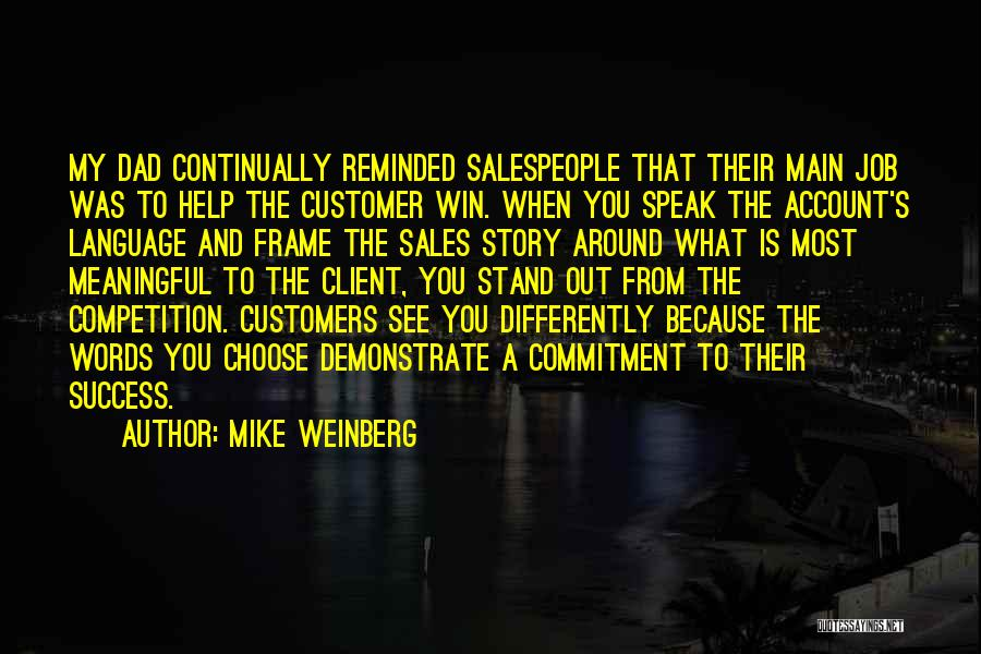 Account Quotes By Mike Weinberg