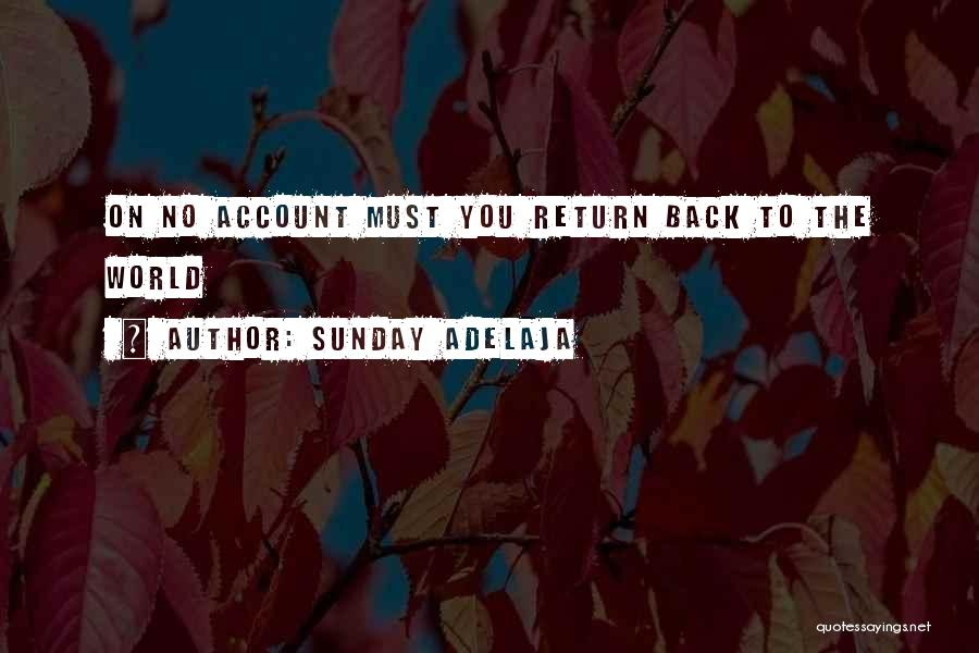 Account Quotes By Sunday Adelaja