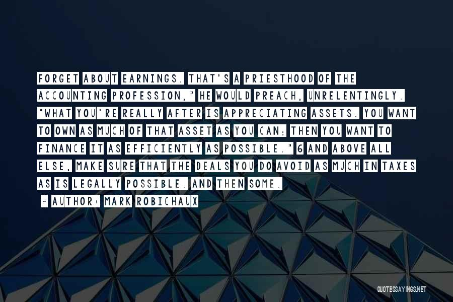 Accounting Profession Quotes By Mark Robichaux