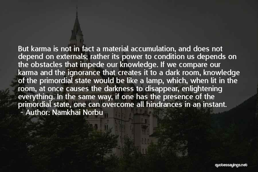 Accumulation Quotes By Namkhai Norbu