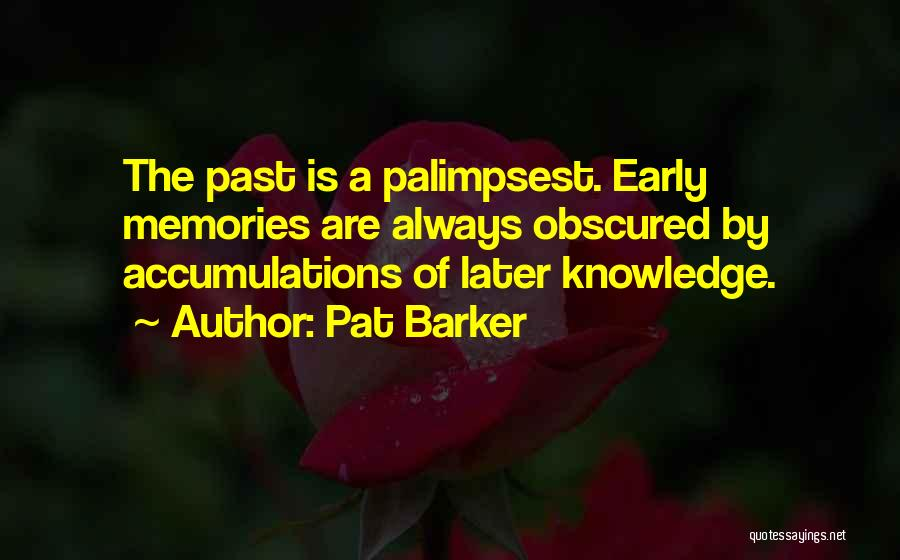 Accumulation Quotes By Pat Barker