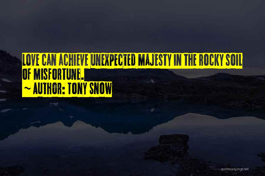 Achieve Love Quotes By Tony Snow