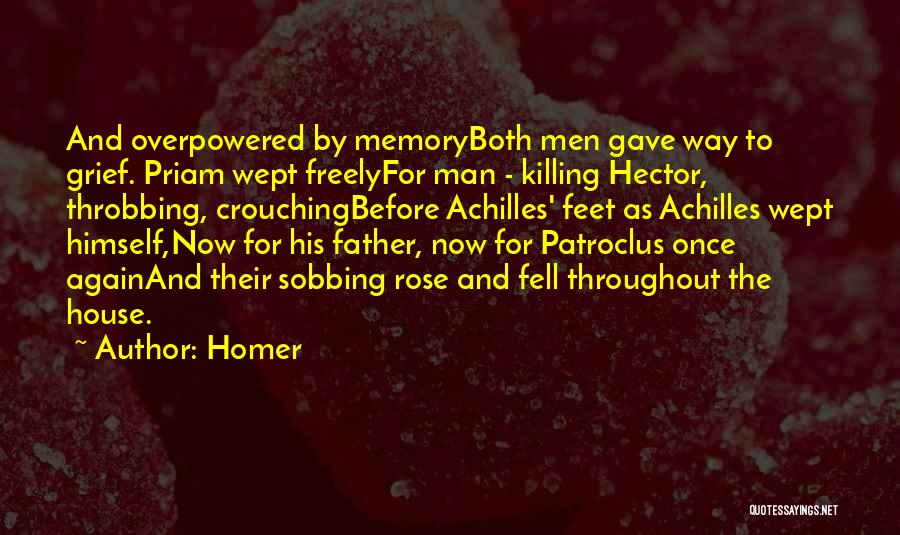 Achilles And Priam Quotes By Homer