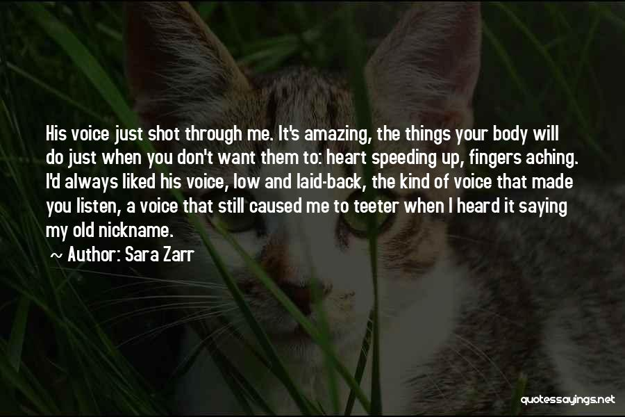 Aching Back Quotes By Sara Zarr