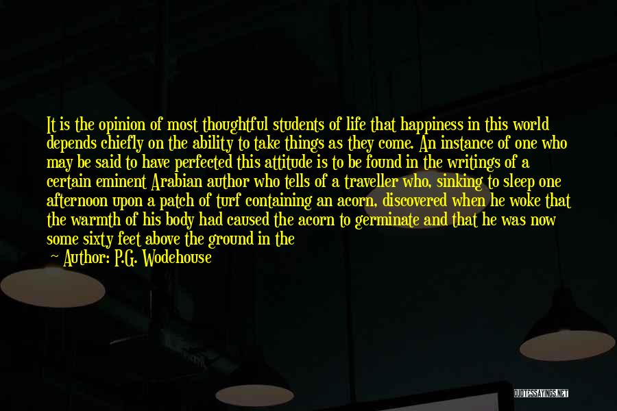 Acorn Quotes By P.G. Wodehouse