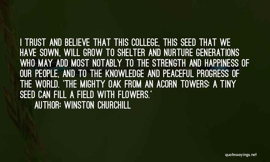 Acorn Quotes By Winston Churchill