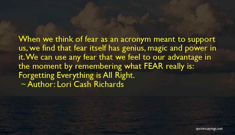 Acronym Inspirational Quotes By Lori Cash Richards